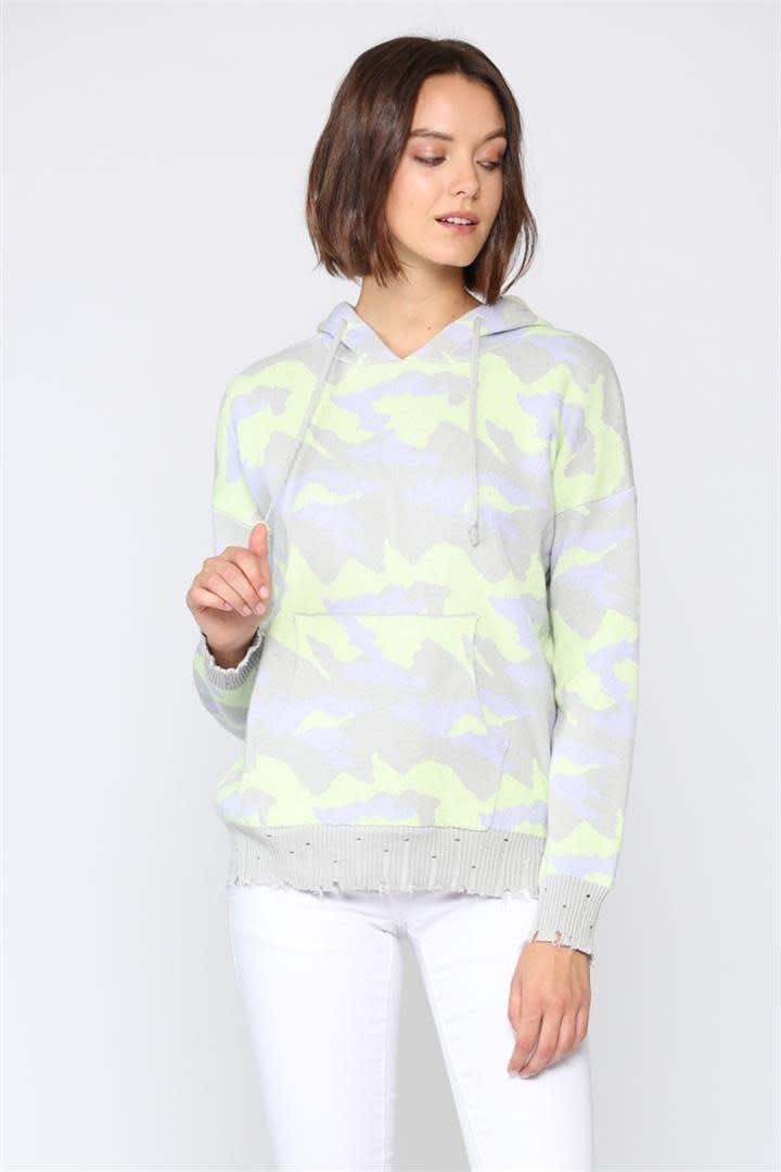 Camo Hooded Sweater