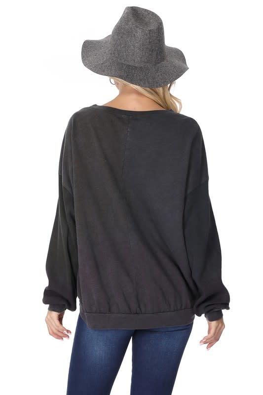 Tie Dye Hi-Lo Sweatshirt