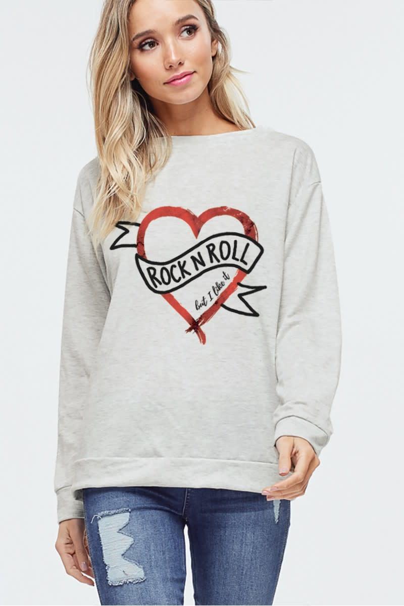 Rock & Roll Heart Sweatshirt