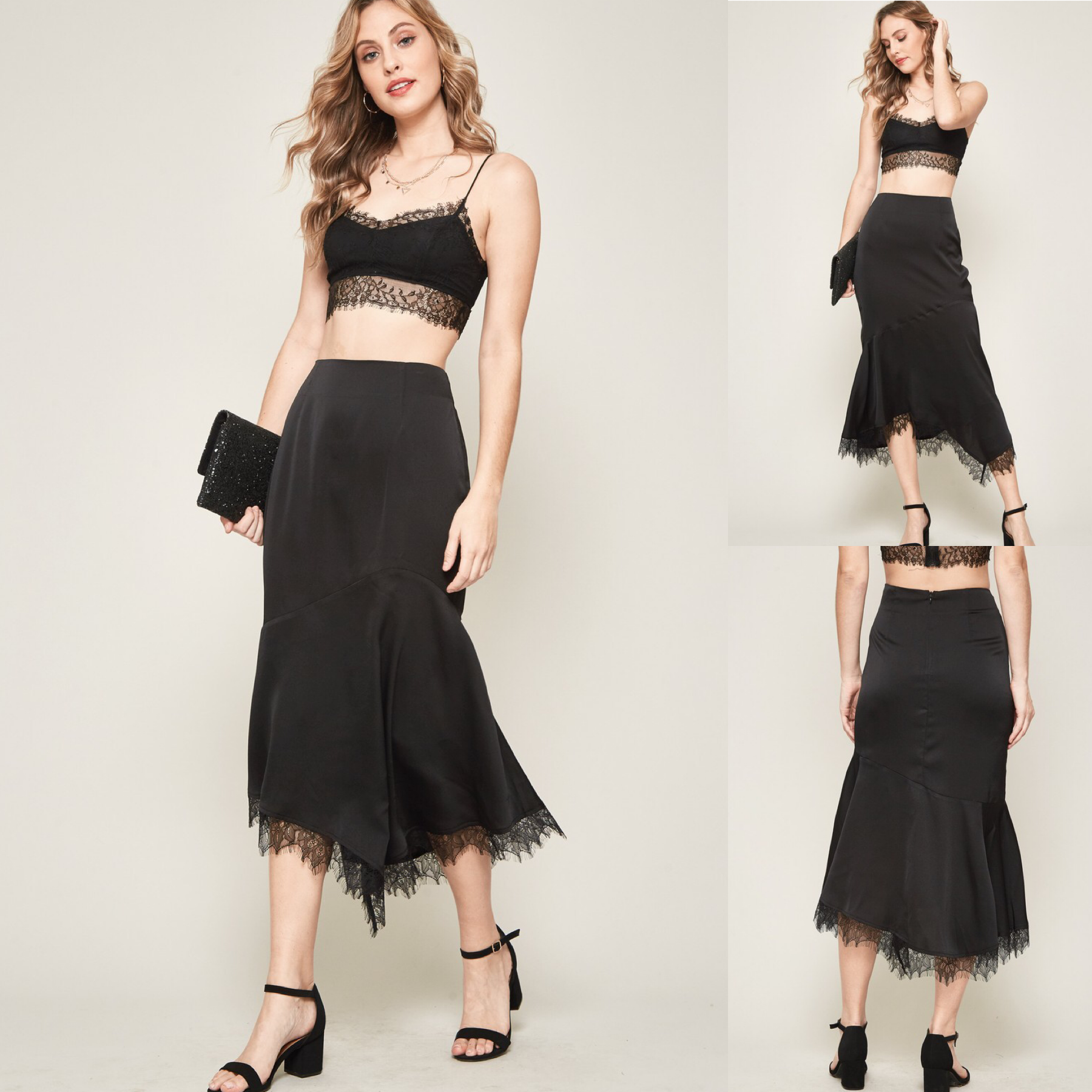 Lace-Trimmed Mermaid Skirt