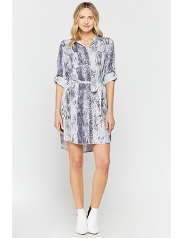 Snakeskin Shirt Dress