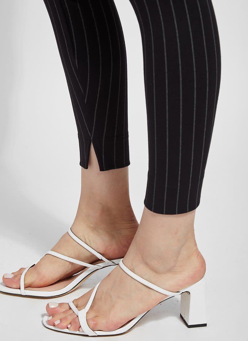Stripe Slit Front Ankle Pant