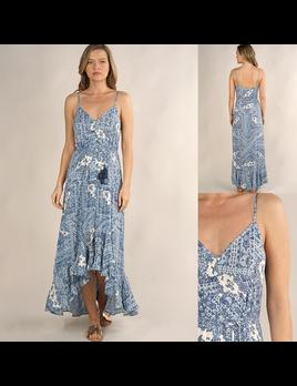 Scarf Print Hi-Lo Dress