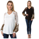 V Neck Top with Slik Bell Sleeve