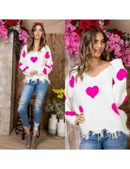 Multi Heart Sweater
