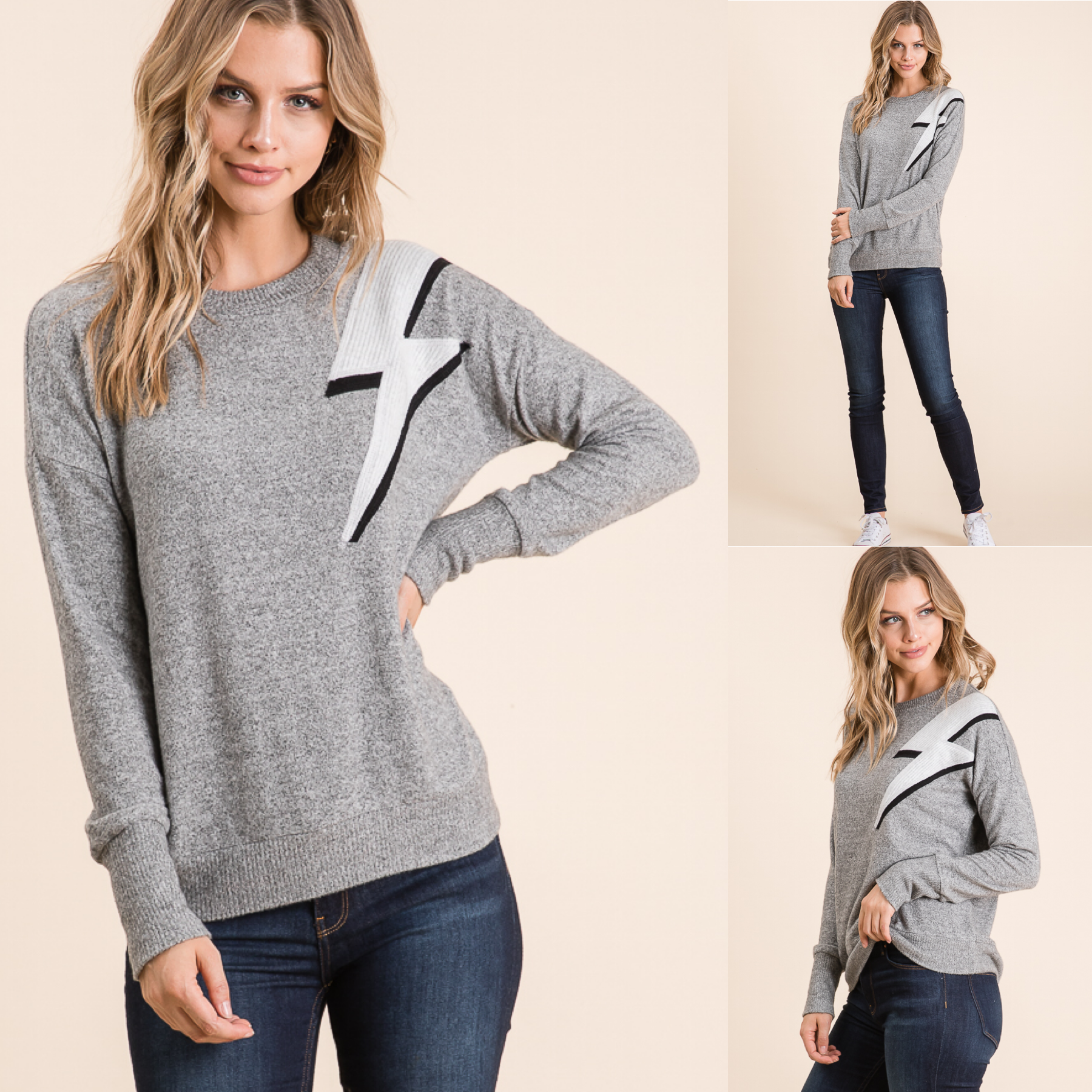 Soft Lightning Bolt Top