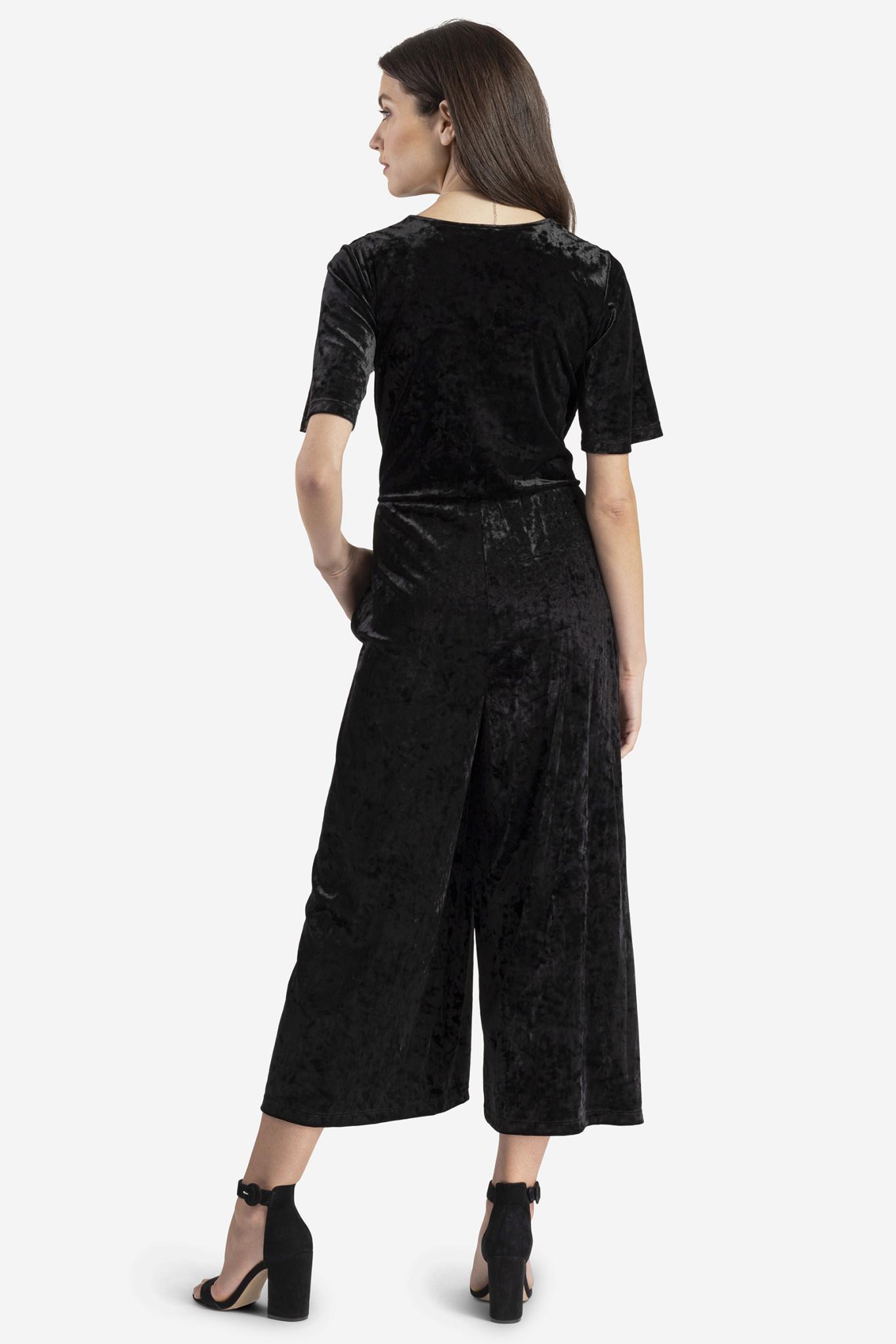 Velvet Cropped Jumpsuit