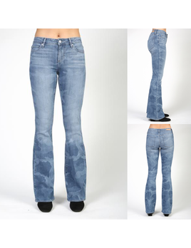 Camouflage Flare Jeans