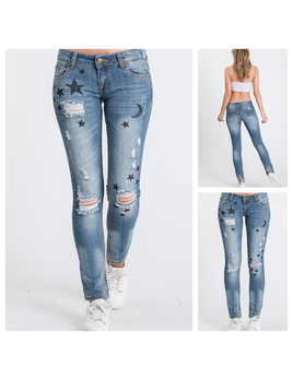 Distressed Galaxy Jeans