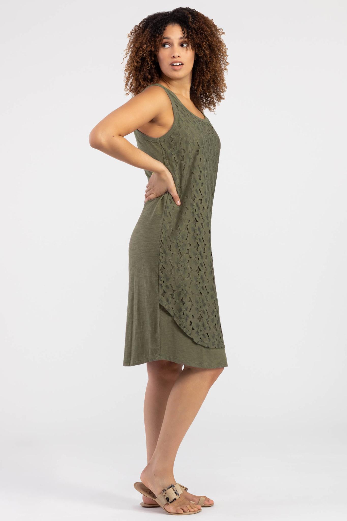 Lace Layered Tank Dress