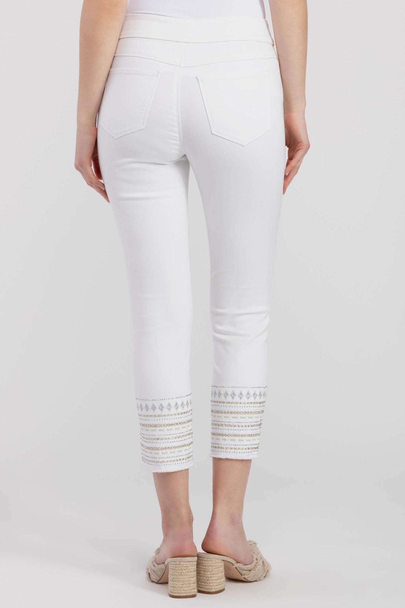 Embellished Hem Jeans