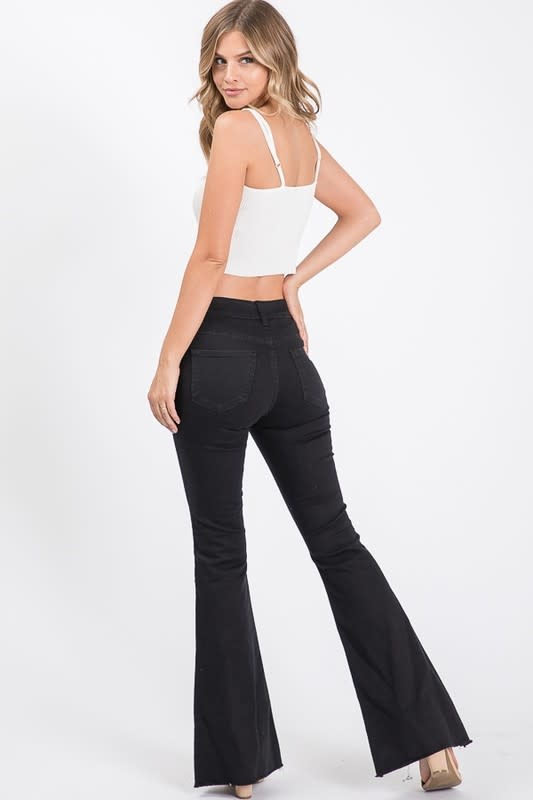 Mid Rise Flare Bottom Jeans