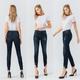 Mid Rise Distressed Hem Ankle Jeans