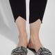 Scallop Edge Denim Leggings