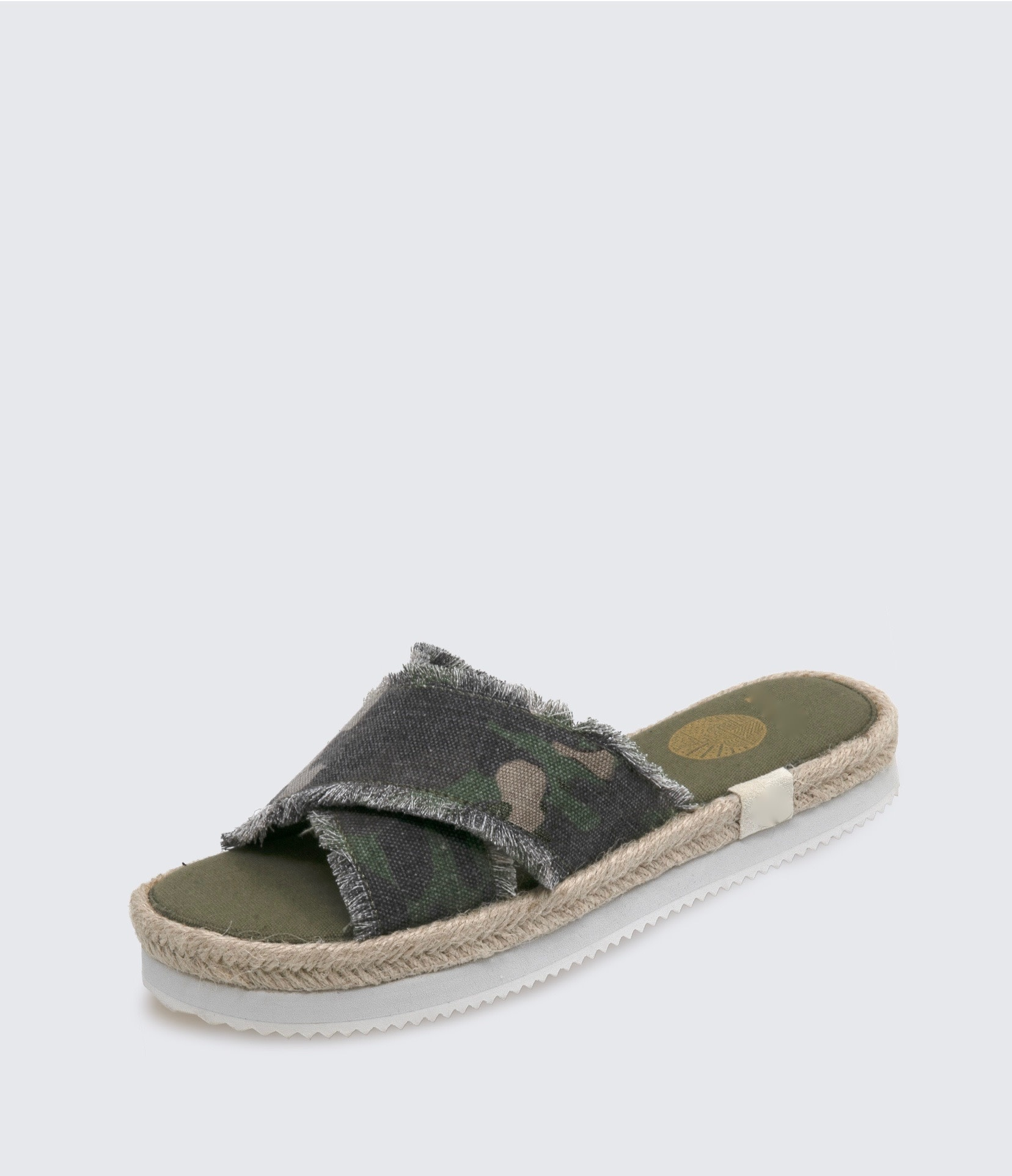 Frayed Flat Form Sandal