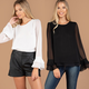 Double Layered Sleeve and Hem Top