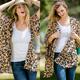Leopard Chiffon Cardigan