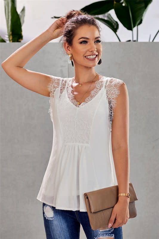 Lace Babydoll Lined Tank
