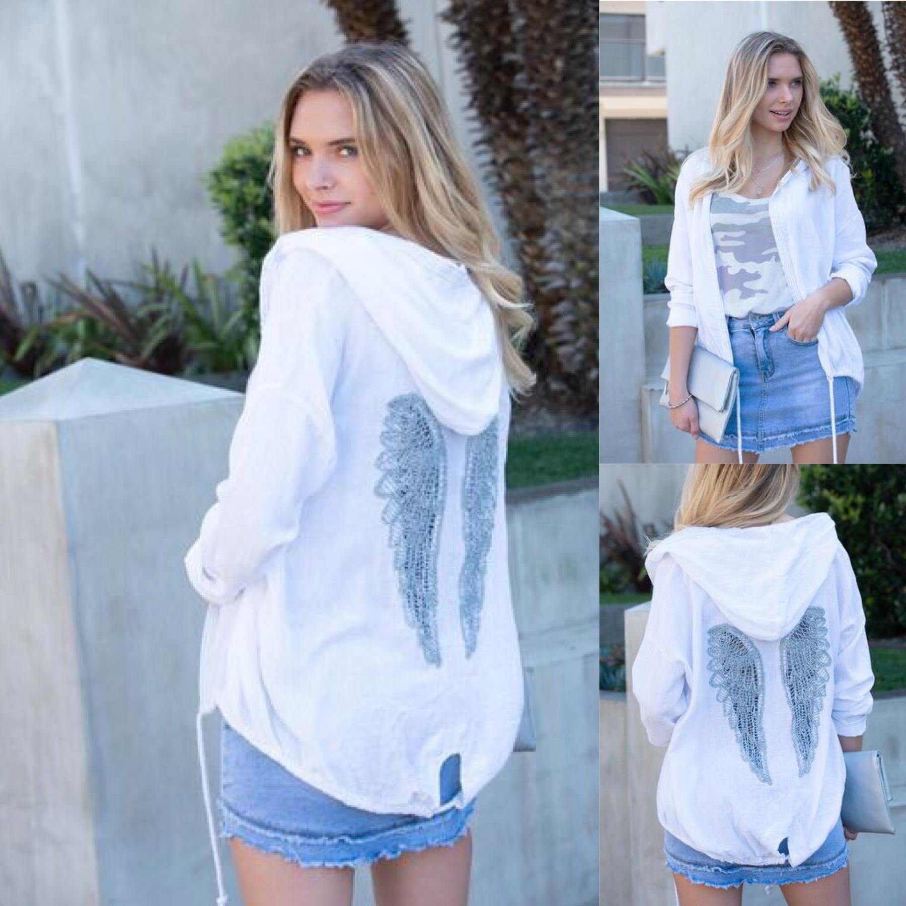 Angel Wing Linen Cardigan