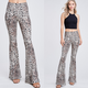Bell Bottom Leopard Print Pants
