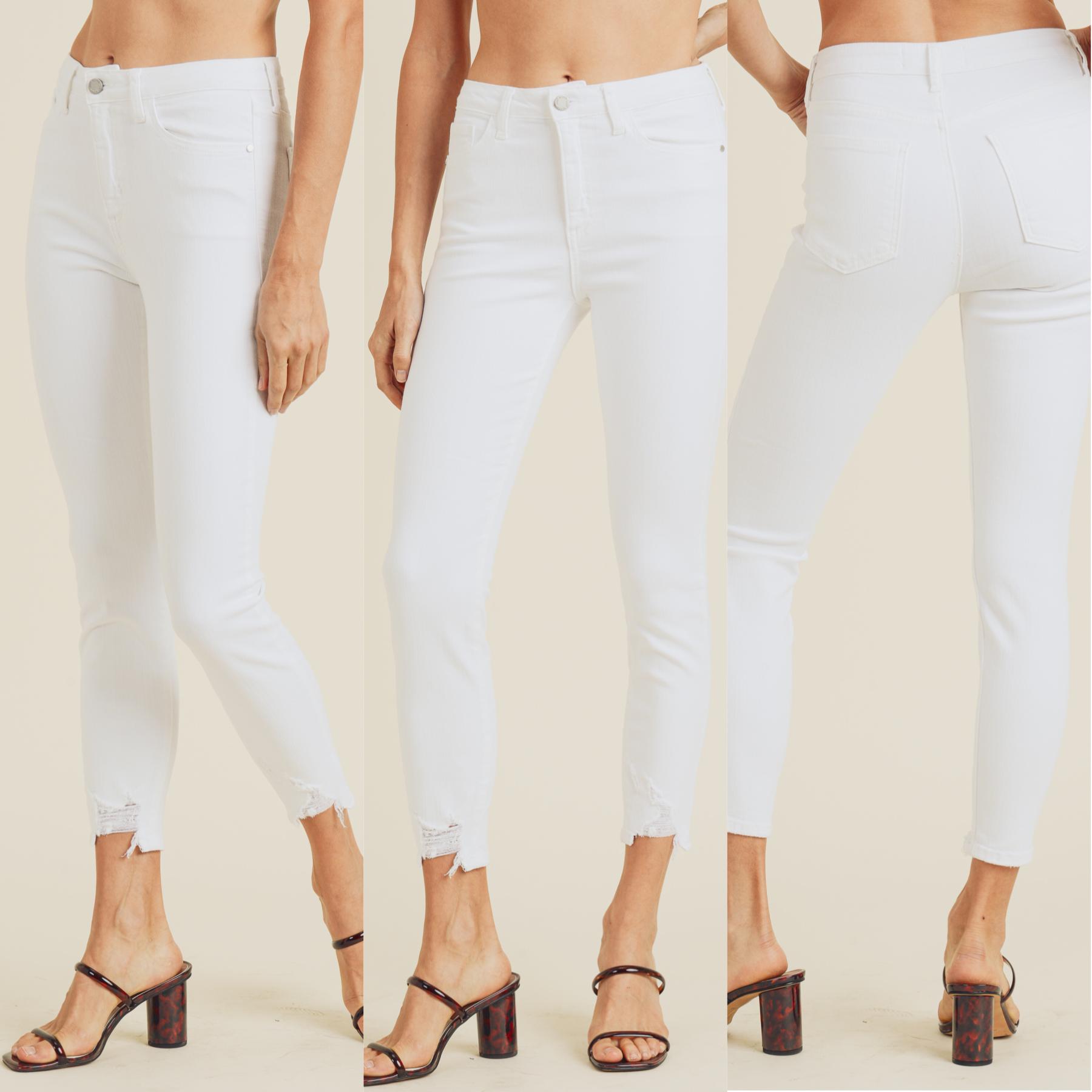 Hem Bite Skinny Jeans