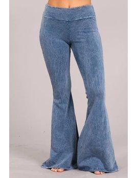 Mineral Wash Flare Leg Pants