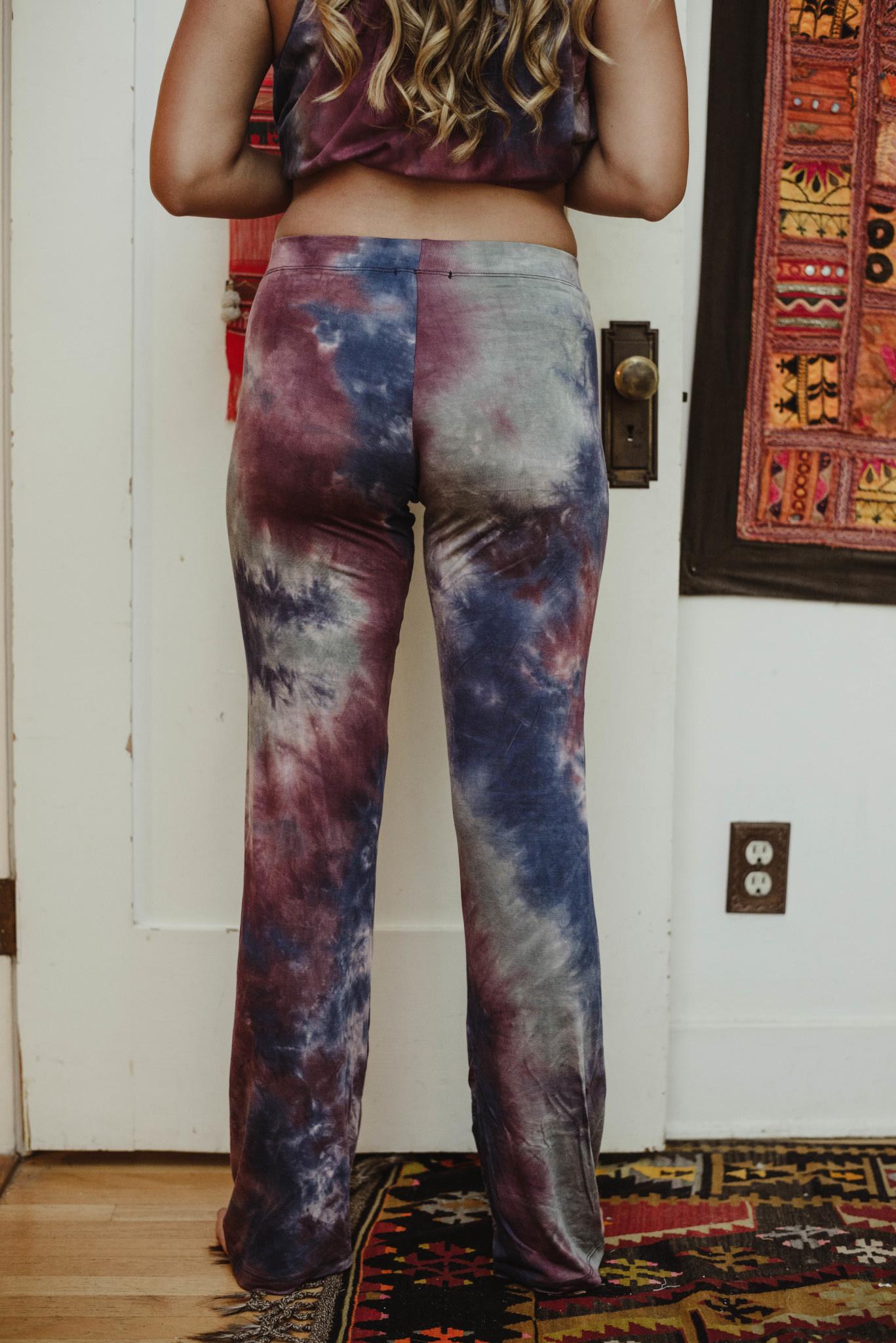 Tie Dye Wide Lge Pants