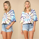 Swirl Tie Dye French Terry Top