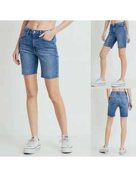 Bike Denim Shorts
