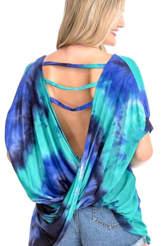 Open Back Tie dye Top