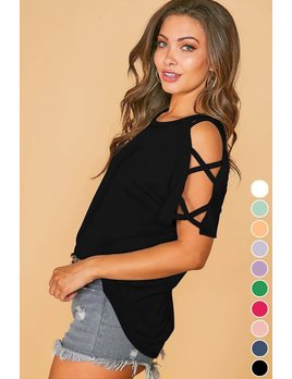 Strappy Sleeve Tee