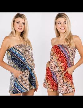Pattern Print Rompers