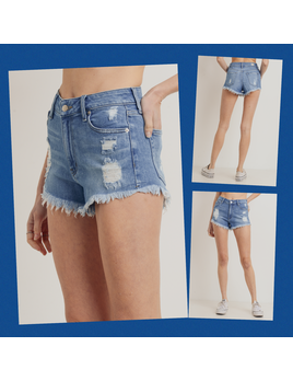 Frayed Hem Distressed Shorts