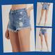 Frayed Hem Distressed Shorts