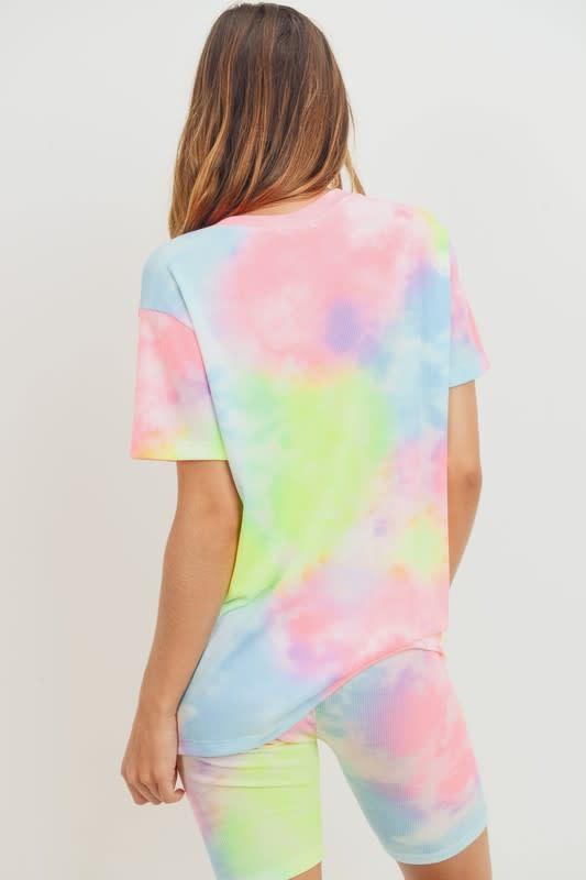Rainbow Tie Dye Thermal Top