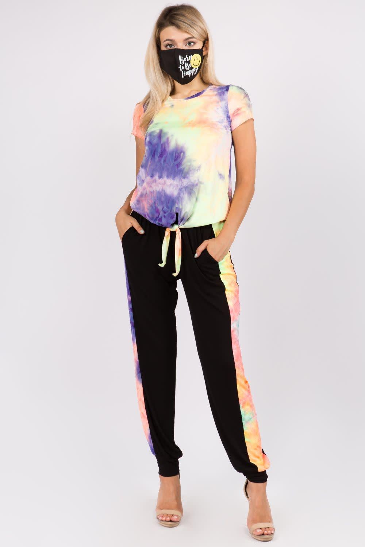 Neon Tie Dye Jogger Pants