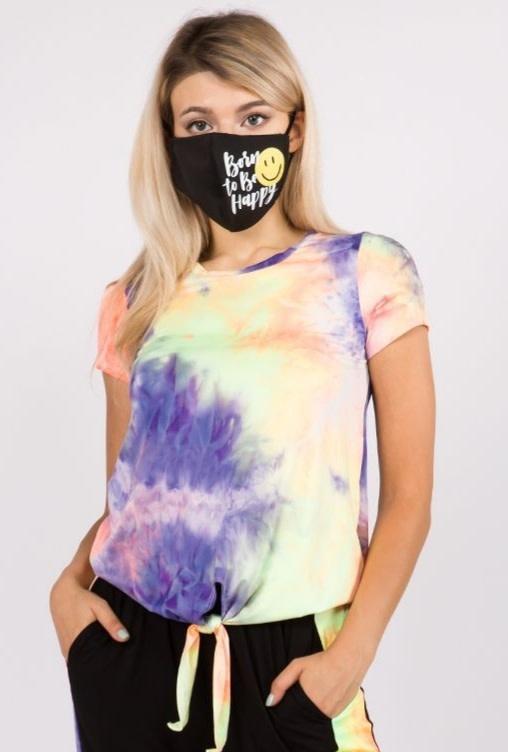 Neon Tie Dye Top