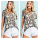 Camouflage Top with Star Detail