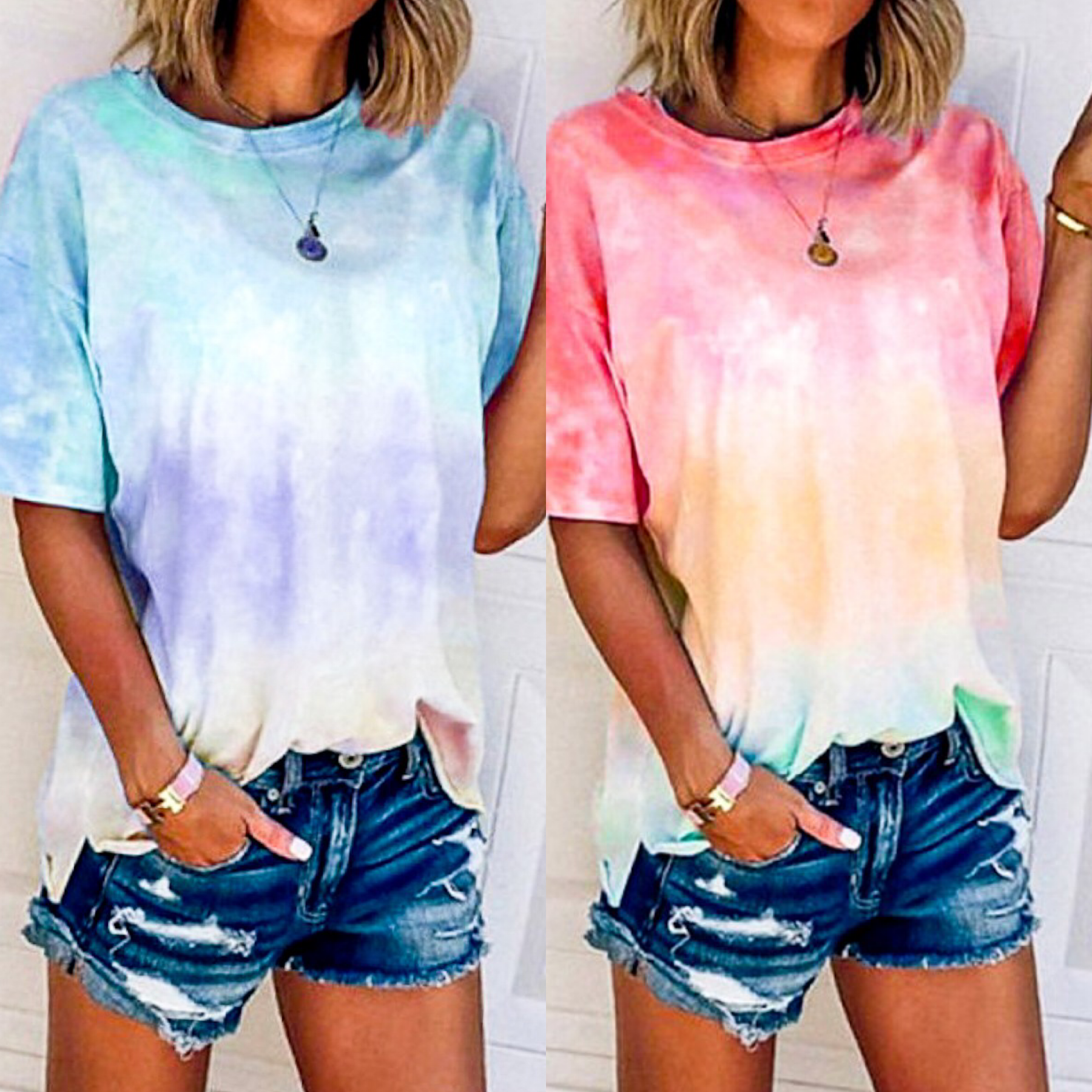 Ombre Dip Dyed Tee Shirt