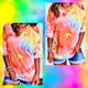 One Cold Shoulder Tie Dye Top