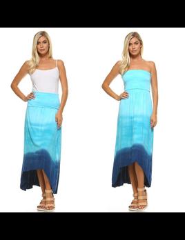 Ombre Tie Dye Dress/ Skirt
