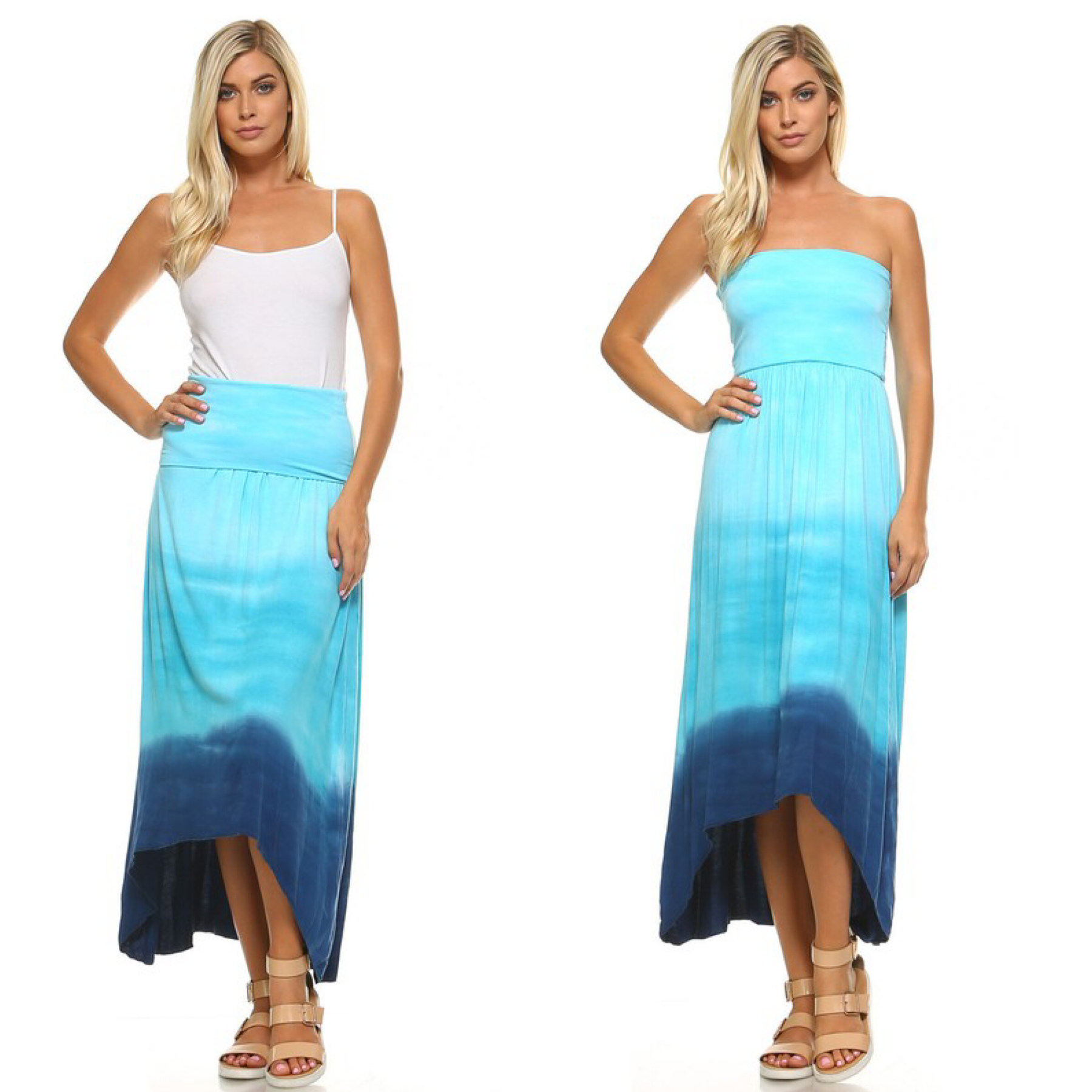 Ombre Tie Dye Dress/ Skirt