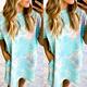 Tie Dye Midi Dress w/ Pocket