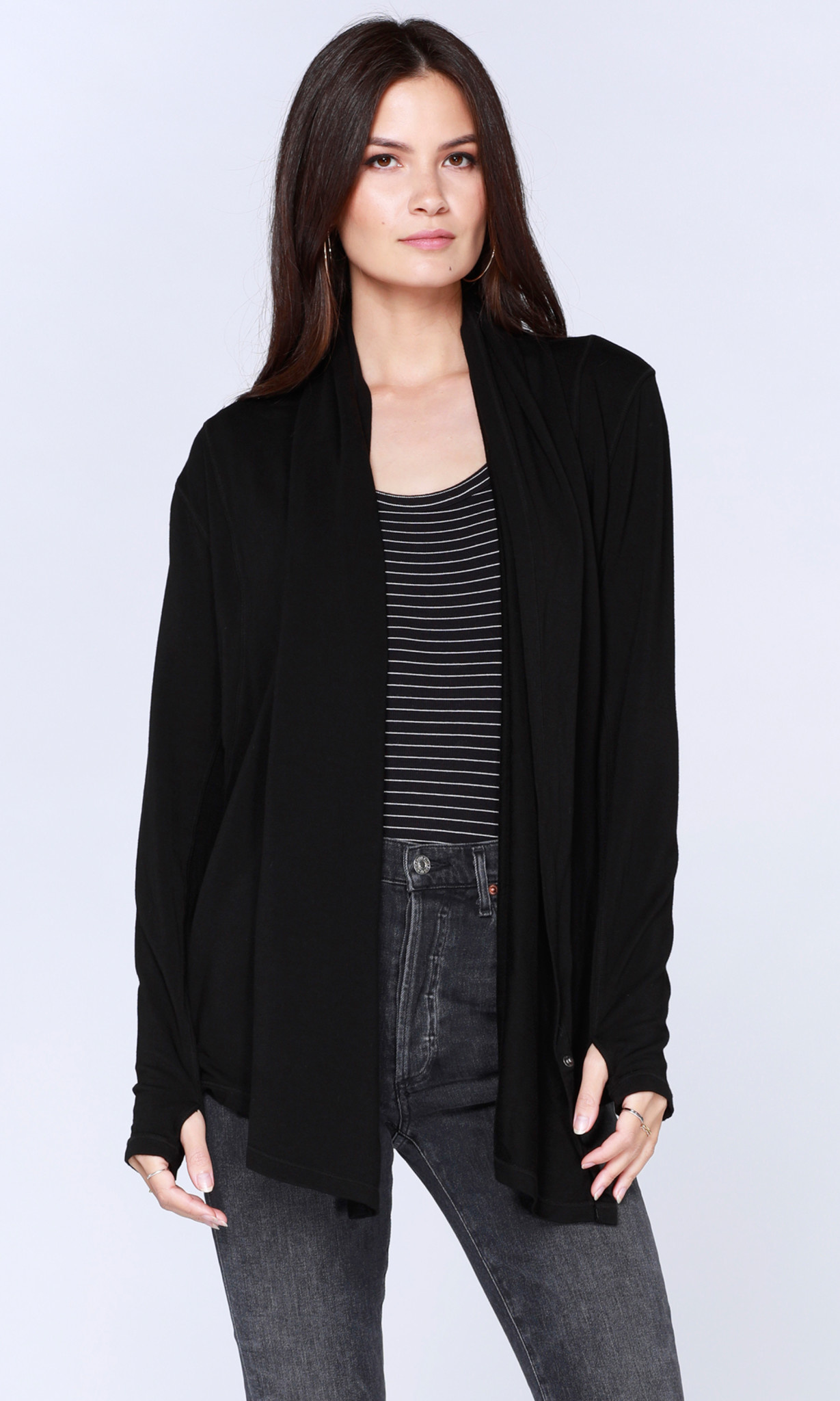 Draped Long Sleeve Top / Cardigan