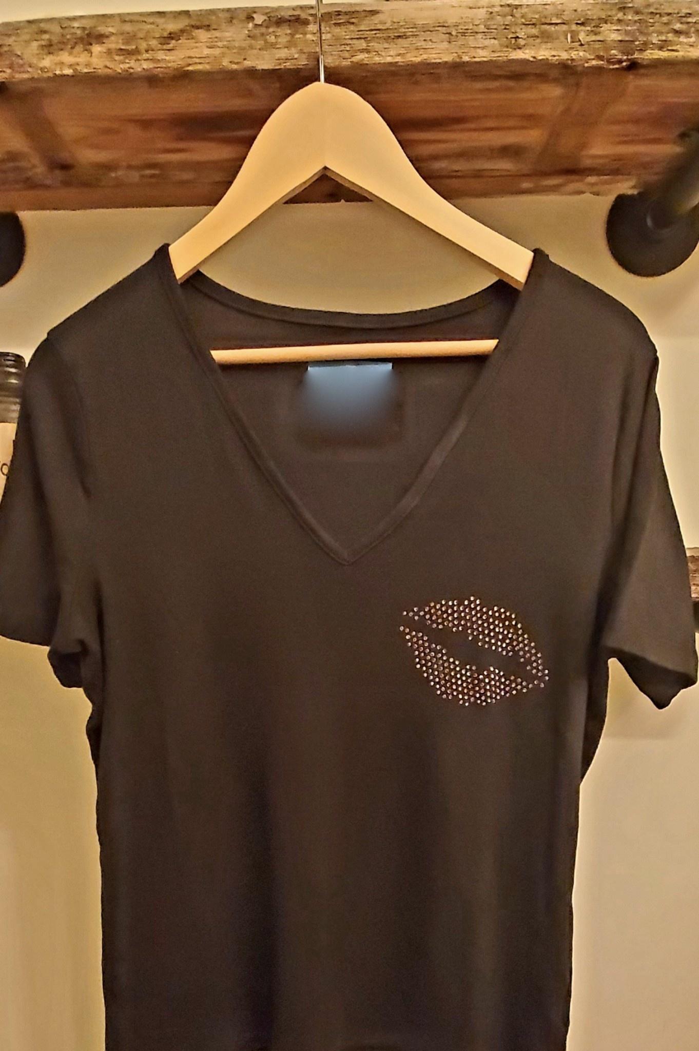 Rhinestone Detail Tee Shirt
