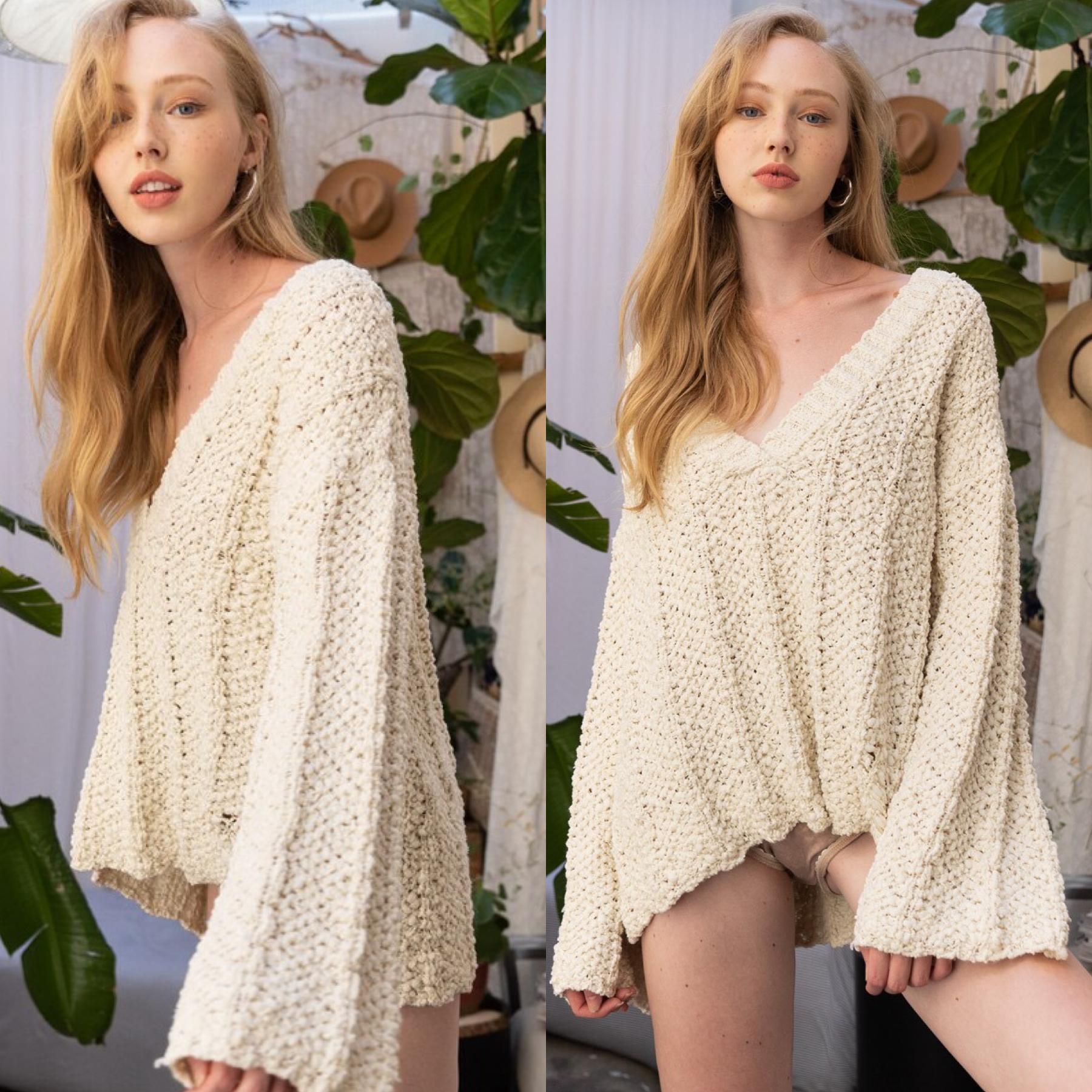 Plush Bell Sleeve Sweater
