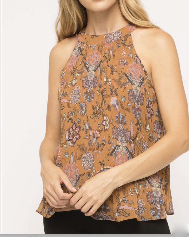 Floral Print Halter Top
