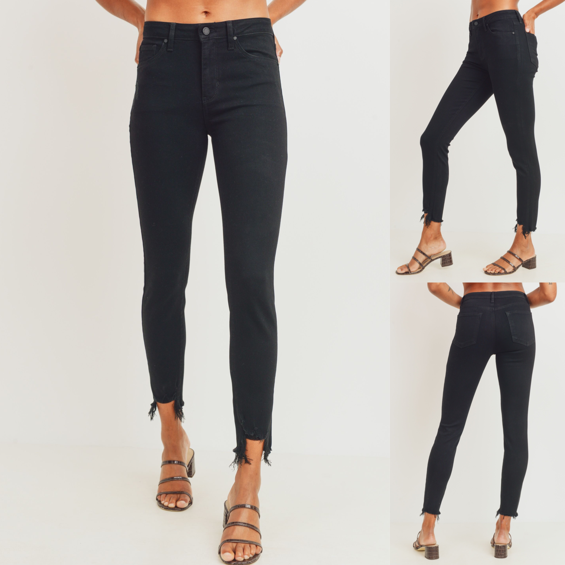 High Rise SKinny with Destroyed Hem