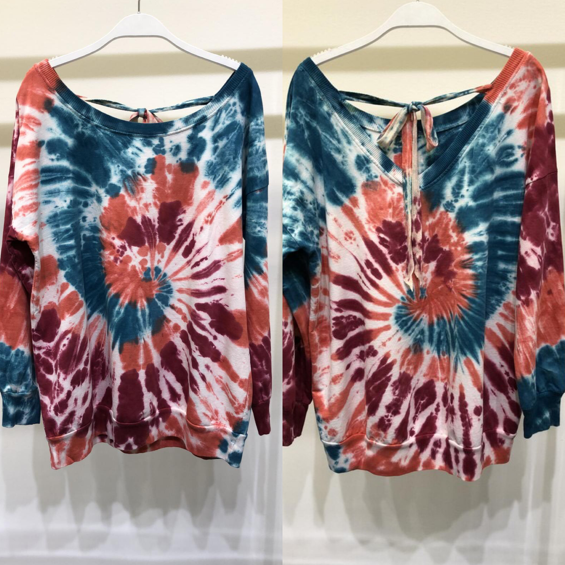 Spiral Tie Dye Sweater Top