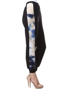 Contrast Waffle Band Joggers
